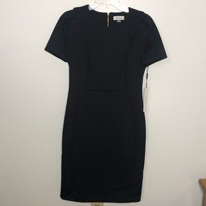 NWT Calvin Klein black scuba dress